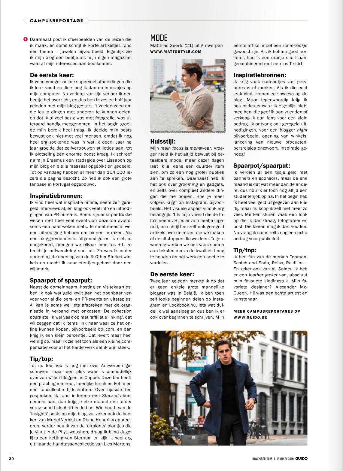 Interview Mattgstyle - GUIDO